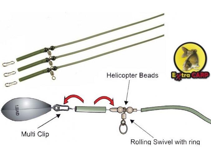 Extra Carp Helicopter Rig System & PVC Tube - 3 ks