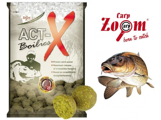 carp zoom act x boilies 800 g 20 mm