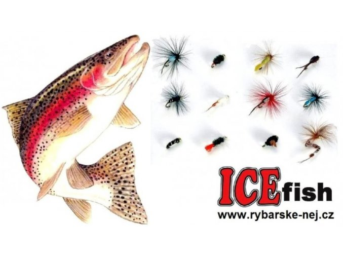 Nymfy na pstruhy ICE Fish - sada GOLD / 12 ks