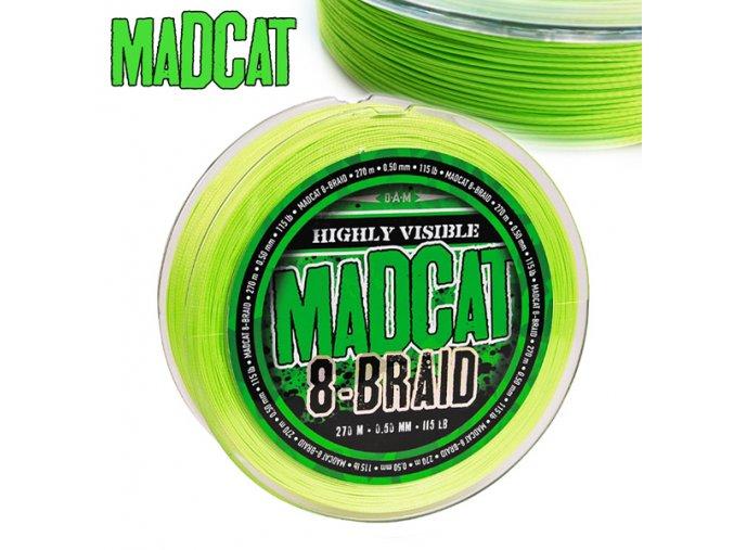 Pletená šnůra MADCAT 8-Braid 270 m