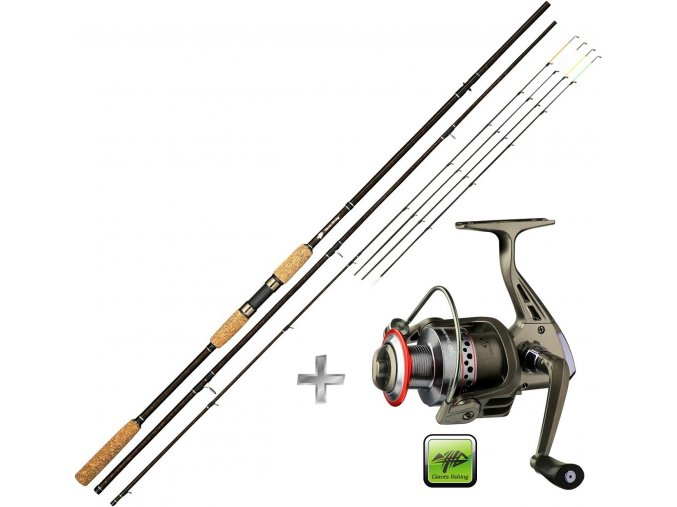 Giants Fishing prut LXR Feeder 11ft/50-100 g + naviják