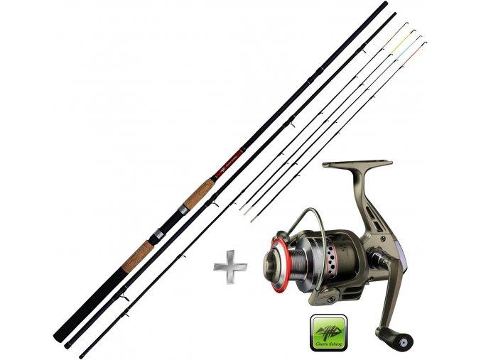 Giants Fishing prut CLX Feeder TR 11ft Medium + naviják