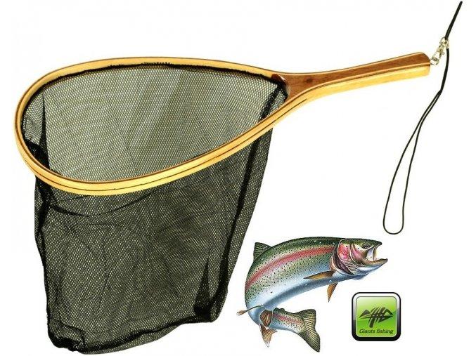 Podběrák Giants Fishing Trout Wood Landing Net