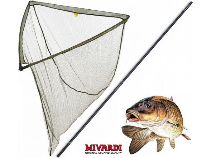 Podběrák Mivardi LevelM 100 x 100 cm + tyč Professional Twin