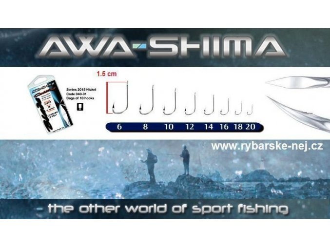 Háčky Awa-Shima 2015 Cutting Blade 10 ks