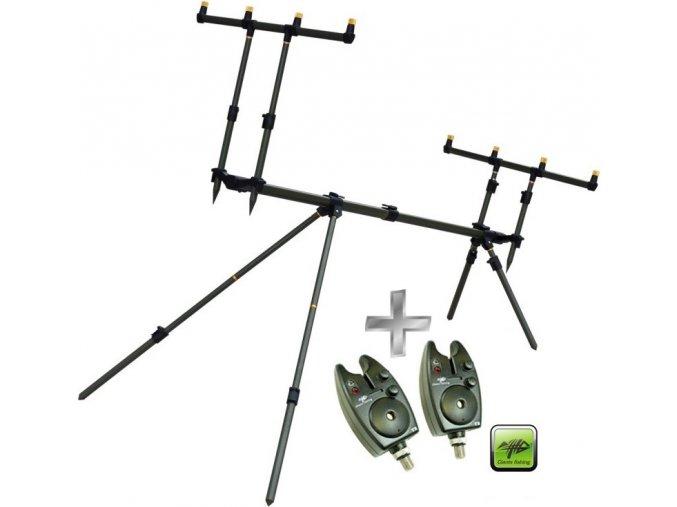 Giants Fishing stojan Rod Pod SPX 4 + 2 x hlásič