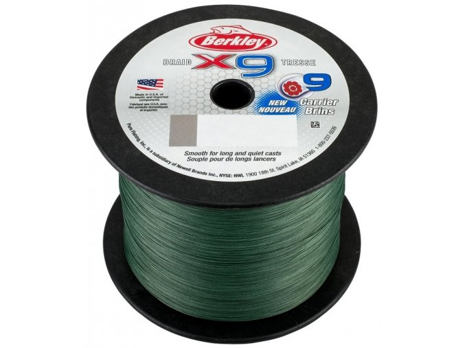 Berkley X9 Braid Low Vis Green pletená šňůra 1 m