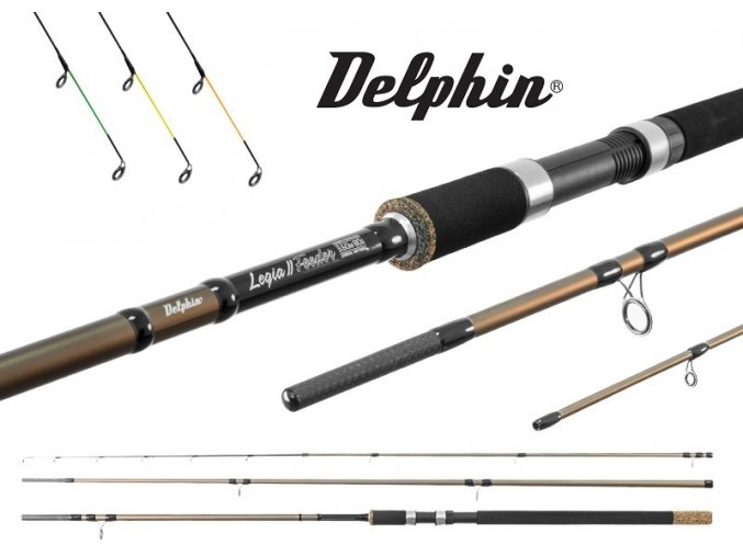Prut Delphin Legia Feeder II 330, 360 + 3 špičky