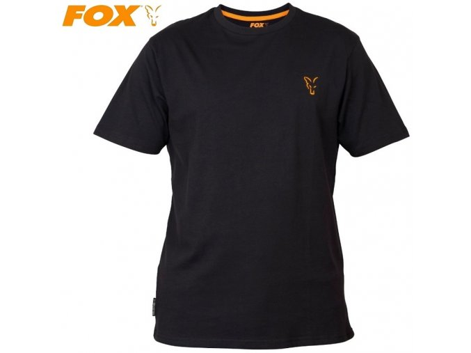 Tričko FOX Collection Black/Orange T-Shirt