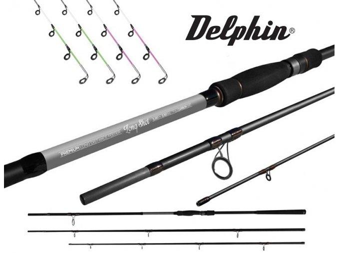 Prut Delphin Long Shot Feeder 360, 390 + 4 špičky
