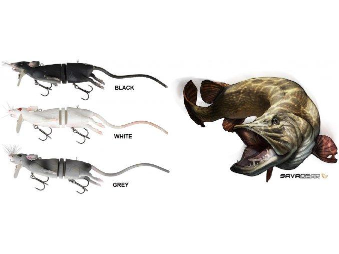 Savage Gear 3D Rad imitace krysy 20 cm/ 32 g