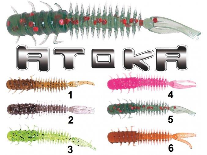 Gumové vláčecí nástrahy Atoka Alien 4 cm - imitace vodního hmyzu
