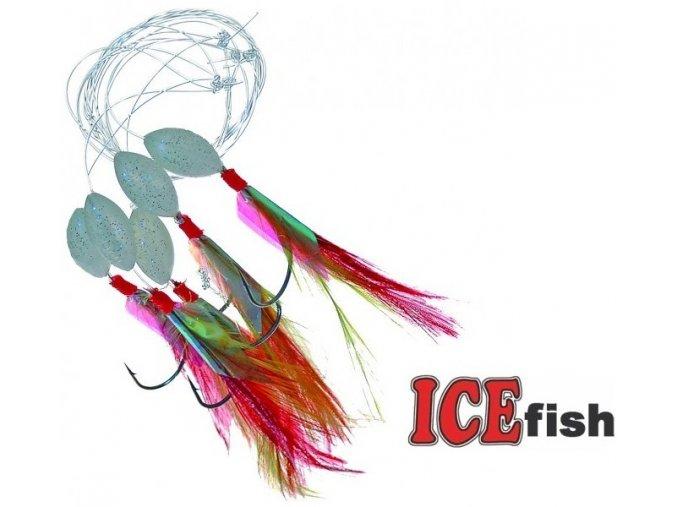 Makrelový návazec ICE Fish červený - 5 ks