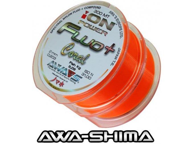 Vlasec Awa-Shima ION POWER Fluo+ Coral 2 x 300 m