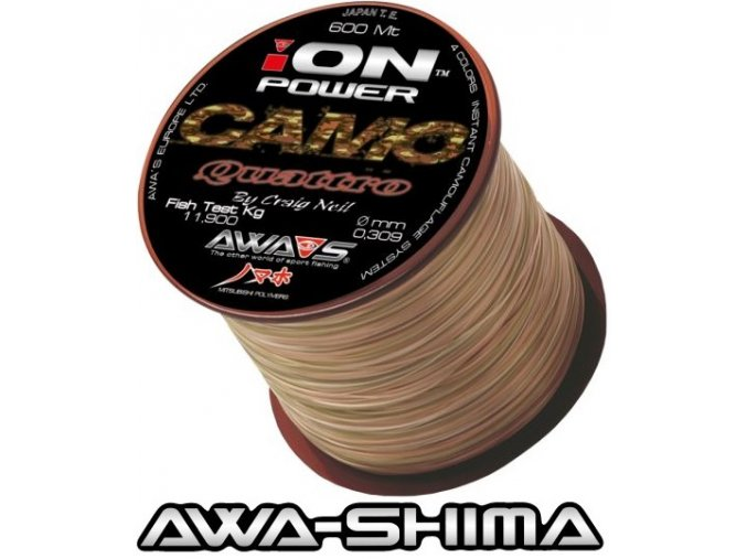 Vlasec Awa-Shima ION POWER Camo Quattro 600 m