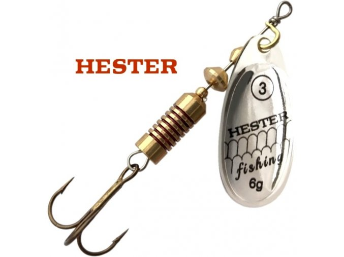 Hester Fishing rotační třpytka Ospray Silver
