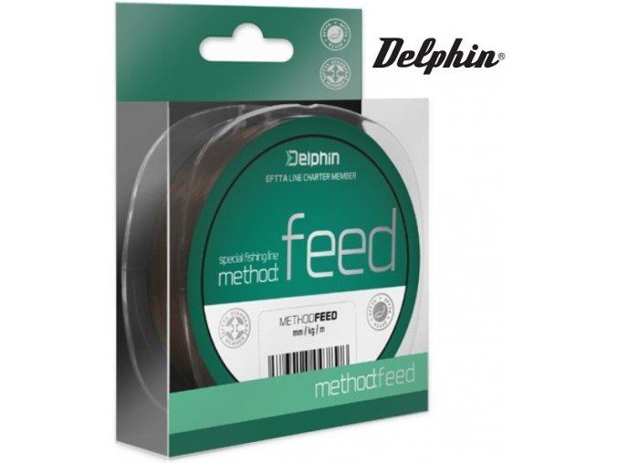 Vlasec na feeder Delphin METHOD FEED hnědý - 1 m