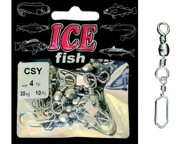 ICE Fish mořské obratlíky s karabinkou CSY