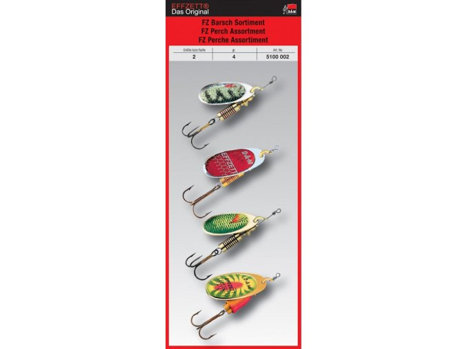 DAM rotační třpytky EFFZETT Perch Spinner Assortment sada 4 ks