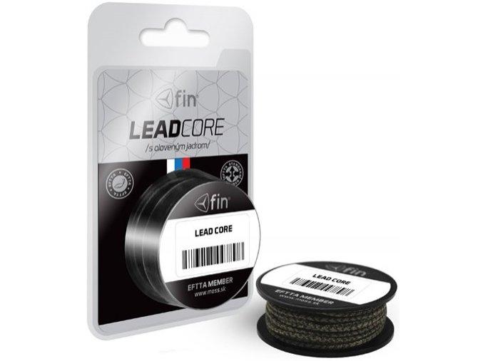 FIN Lead Core olověná šňůra 5 m/45 lb Camo