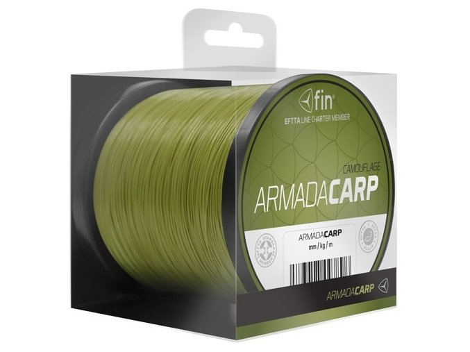 Vlasec FIN Armada Carp Camo zelená kamufláž 1 m