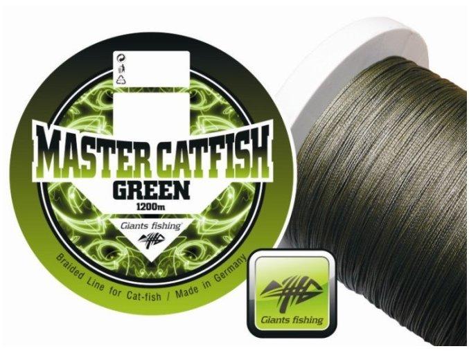 Giants Fishing Master Catfish Green pletená šňůra 1 m