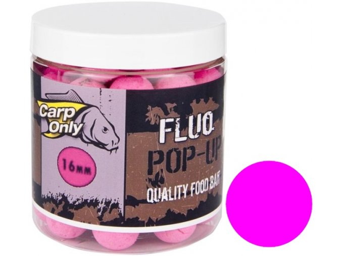 Plovoucí boilies Carp Only Fluo Pop Up Pink 100 g