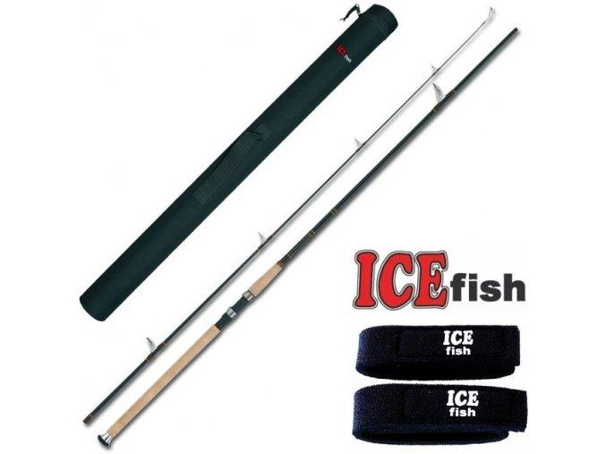 Prut ICE Fish Charon 240, 270 + transportní pouzdro a neoprenové pásky