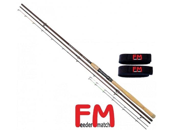 Prut Feeder Match Elegance Feeder 360 cm/40-110 g + neoprenové pásky