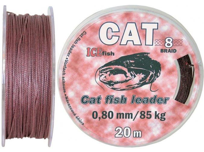 Šňůra na návazce a montáže na sumce ICE Fish CAT Leader - 20 m