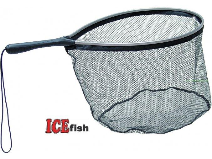 Podběrák raketový ICE Fish 1 s pogumovanou síťkou 40 x 50 cm