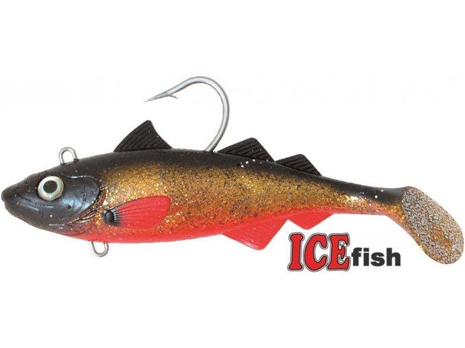 Umělá nástraha na moře ICE Fish HYSE Jednoskvrnka RB 22 cm/425 g