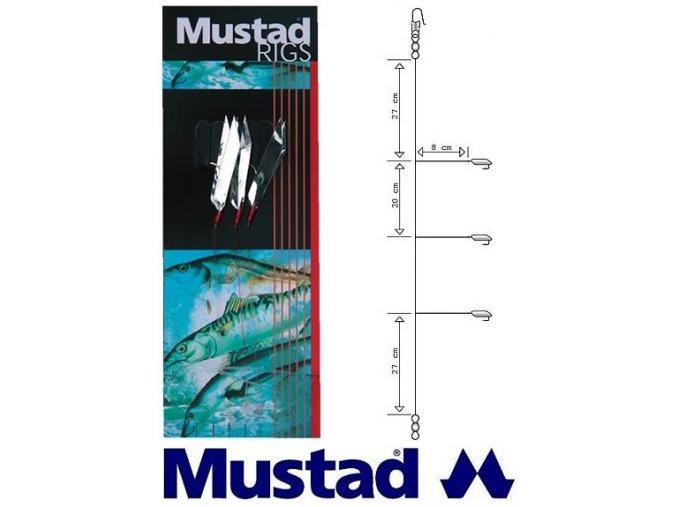 Mustad mořský návazec Silver Flash Rig T29 - 3 ks