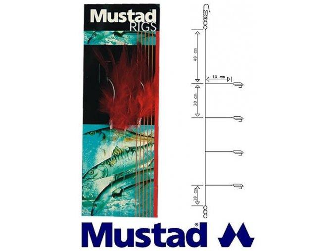 Mustad mořský návazec Mackerel Pollack Trace T21 - 3 ks