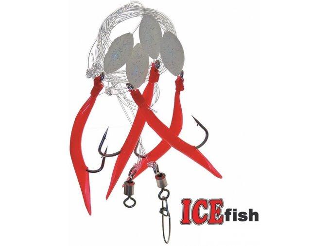 Návazec pro mořský rybolov ICE Fish trubičky A