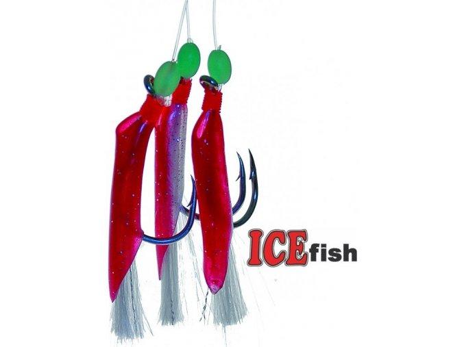 Návazec pro mořský rybolov ICE Fish gumičky A - 3 ks