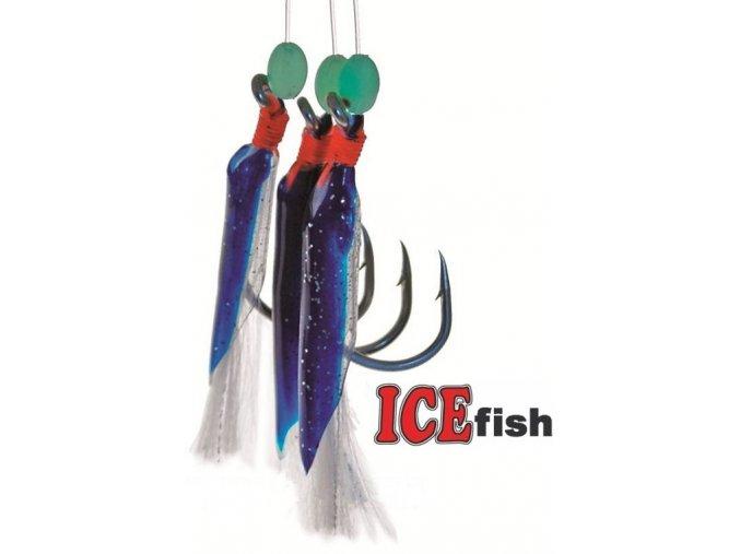 Návazec pro mořský rybolov ICE Fish gumičky B 3 ks