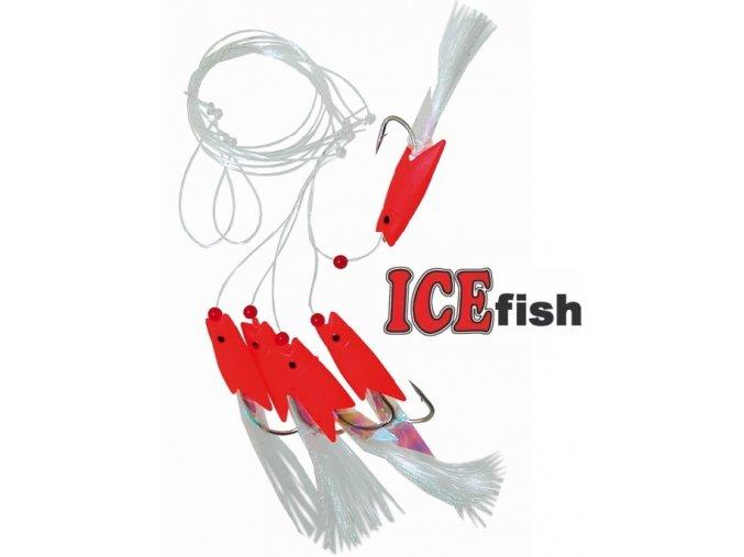 Návazec pro mořský rybolov ICE Fish rybky RED