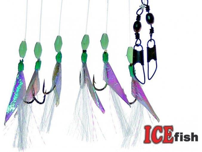 Návazec pro mořský rybolov ICE Fish fólie fluo