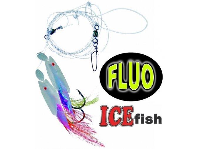 Návazec pro mořský rybolov ICE Fish ryba fólie/peří A