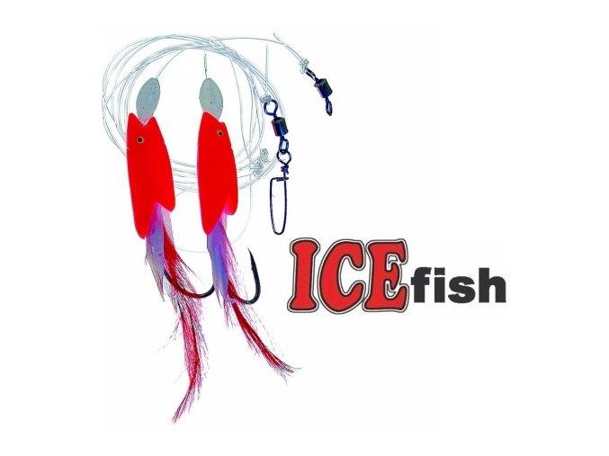 Návazec pro mořský rybolov ICE Fish ryba fólie/peří B