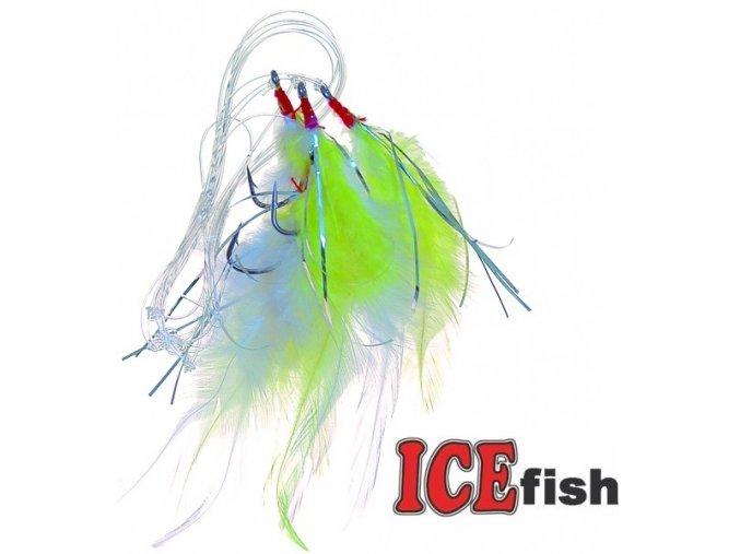 Návazec pro mořský rybolov ICE Fish peří B