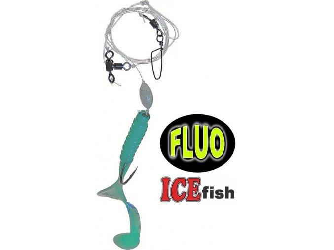 Návazec pro mořský rybolov ICE Fish twistr B 11 cm