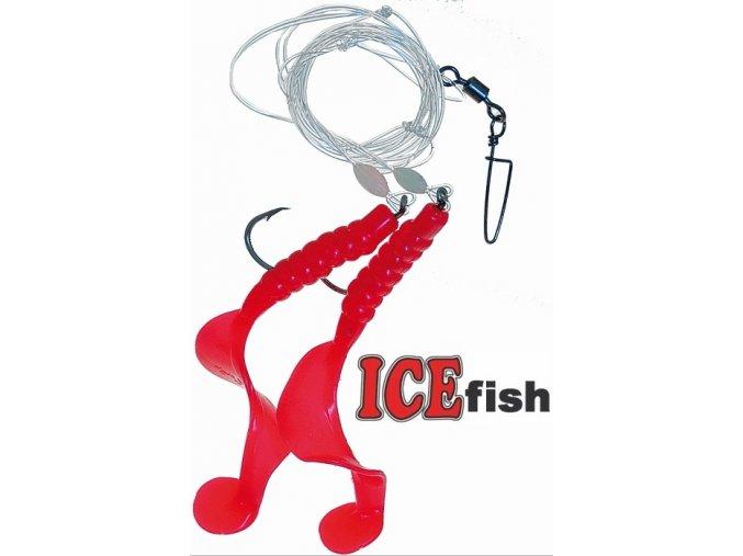 Návazec pro mořský rybolov ICE Fish twistry A 9 cm