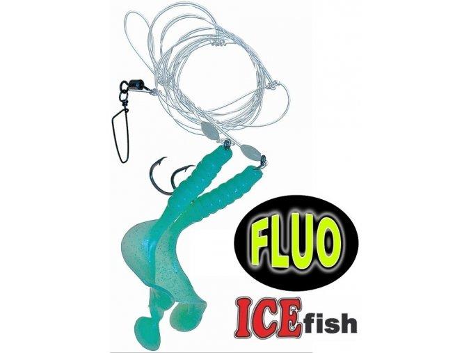 Návazec pro mořský rybolov ICE Fish twistry B 9 cm