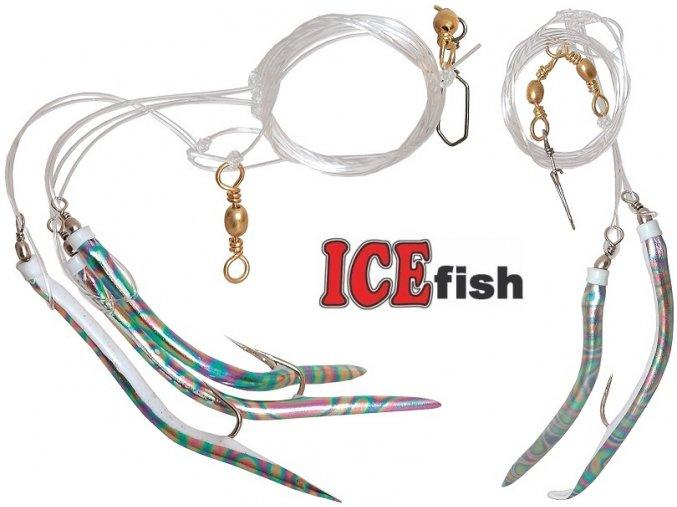 Návazec pro mořský rybolov ICE Fish trubičky M
