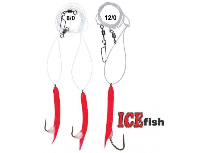 Návazec pro mořský rybolov ICE Fish kreveta
