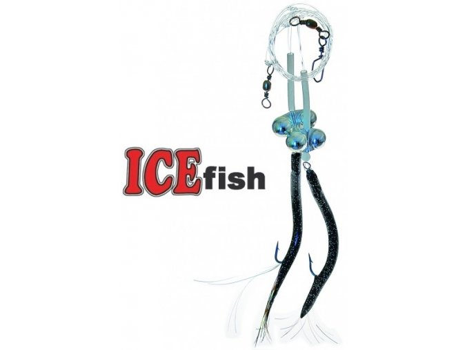 Návazec pro mořský rybolov ICE Fish trubičky zvukové B
