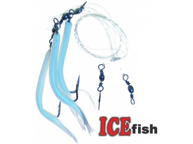 Návazec pro mořský rybolov ICE Fish trubičky s třásněmi C
