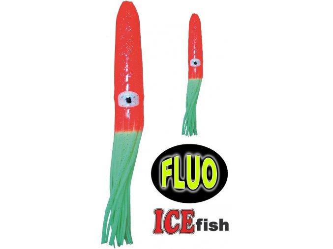 ICE Fish plovoucí chobotnice na návazce pro mořský rybolov - červená/fluo